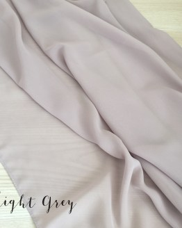 light grey chiffon table runner