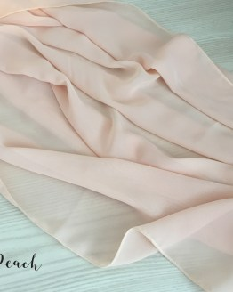 peach chiffon table runner