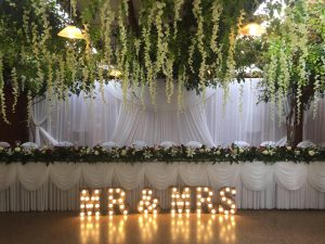 MR & MRS Letter Light Hire NZ