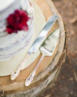 ornate cake knife set