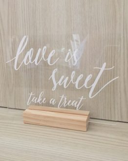 love is sweet sign hire auckland