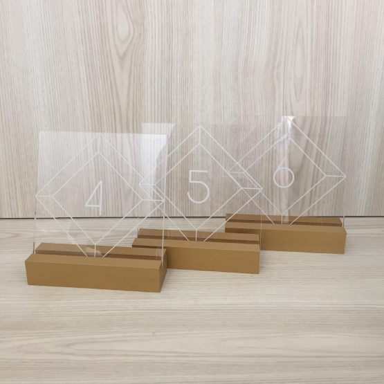 perspex table number hire auckland