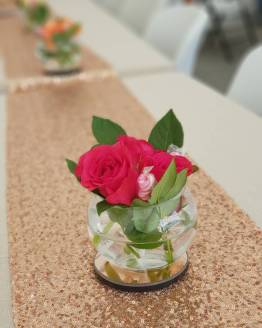 rose gold sequin runner hire auckland