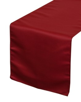 dark red table runner hire