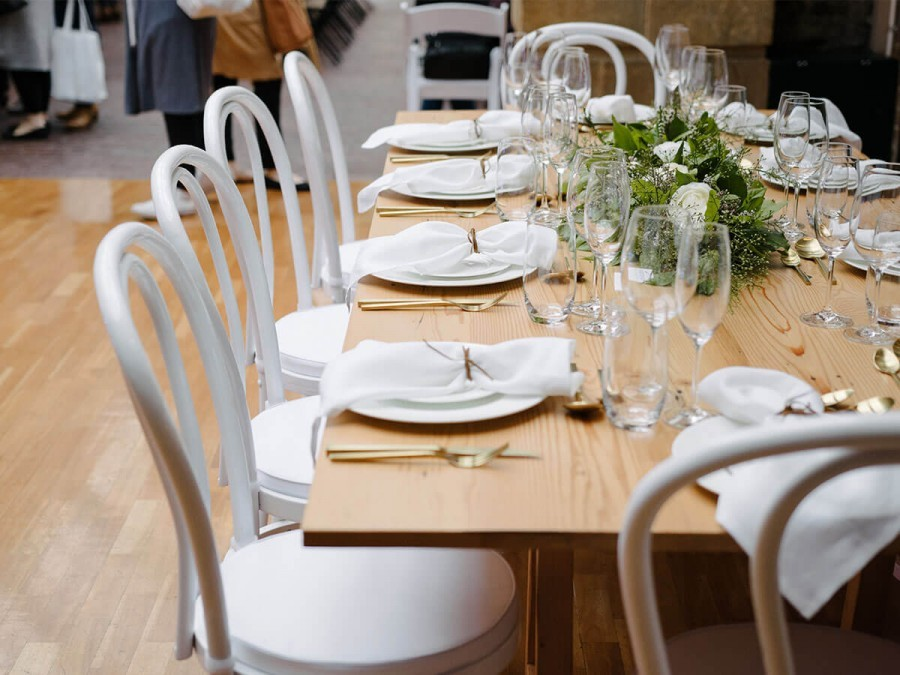 Merveilleux White Bentwood Chair Hire Auckland