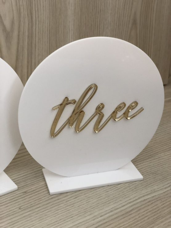 perspex table number hire nz
