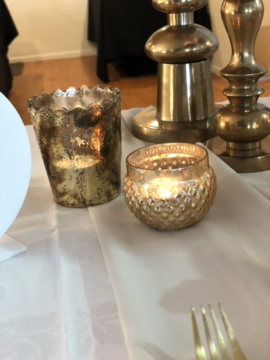 gold tealight holder hire nz