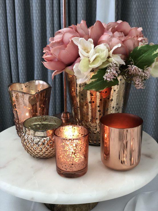 rose gold vase hire auckland nz