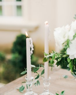 simple glass candlestick hire nz