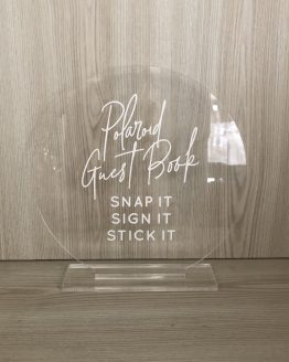 acrylic guestbook sign hire nz