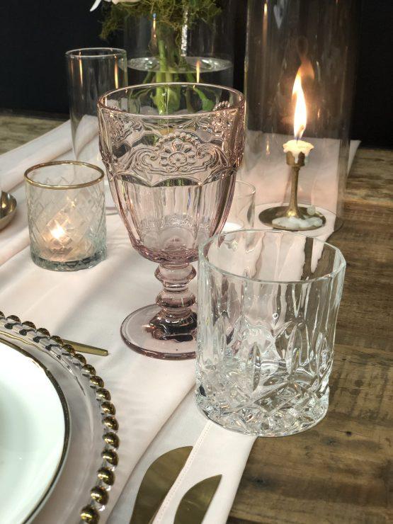pink glassware hire nz