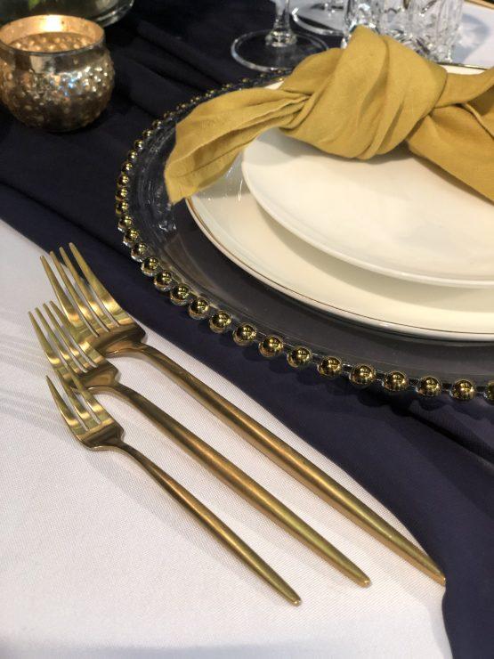 matte gold cutlery hire nz