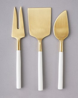 white and gold cutlery hire nz