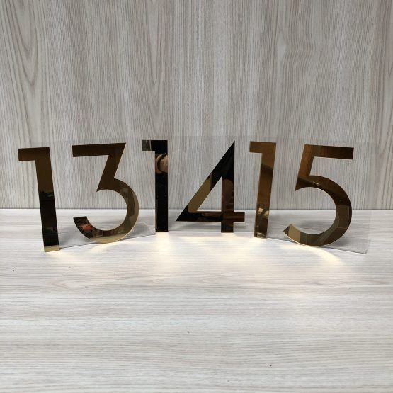 gold table number hire nz