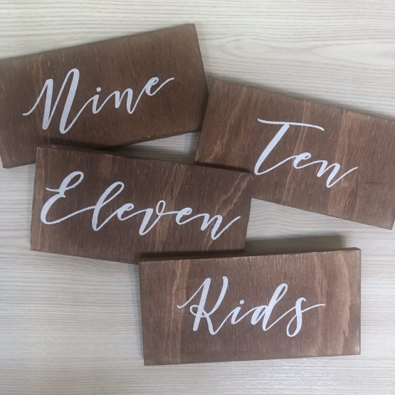 wooden table number hire auckland nz