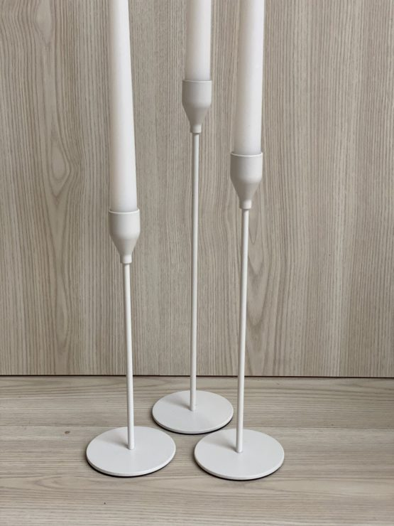 white candlestick hire nz