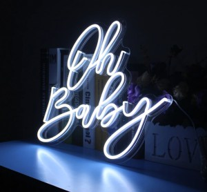 oh baby neon sign hire auckland nz