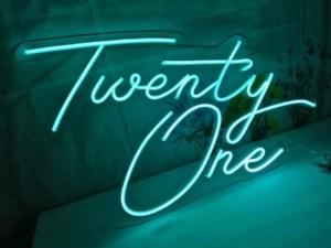 twenty one neon sign hire auckland nz