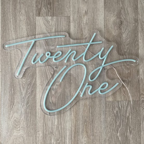 twenty one neon sign hire auckland