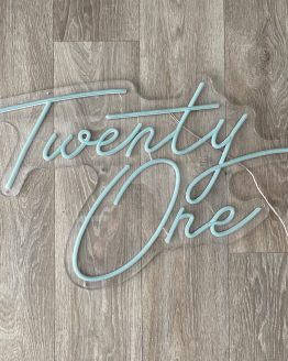 twenty one neon sign hire auckland