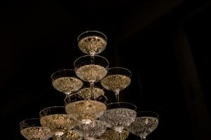 etched champagne coupe hire nz