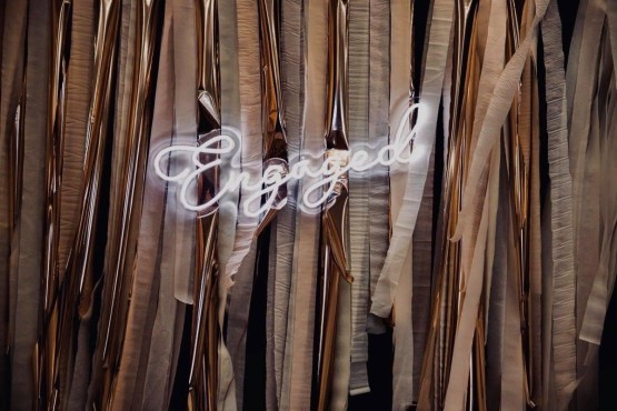engaged neon sign hire nz