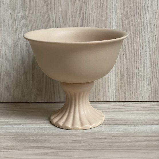nude beige compote vase hire auckland nz