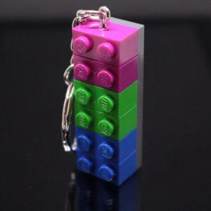 Polysexual Brick Keyring