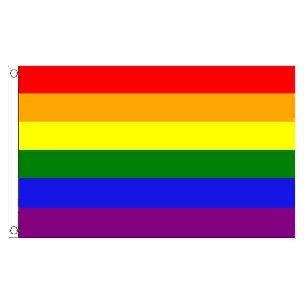 buy rainbow lgbt pride 5' flag online