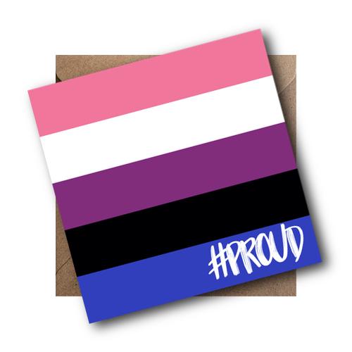 Genderfluid LGBT Flag Card #PROUD