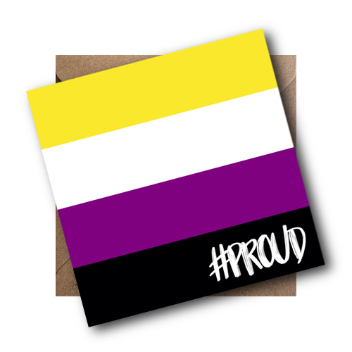 Non Binary LGBT Flag Card #PROUD