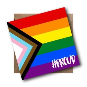 Rainbow Progress LGBT Flag Card #PROUD
