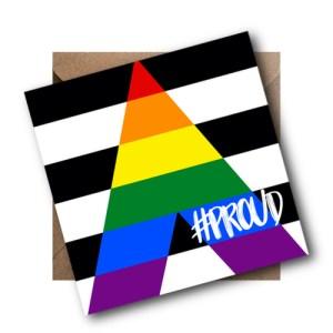 Straight Ally LGBT Flag Card #PROUD