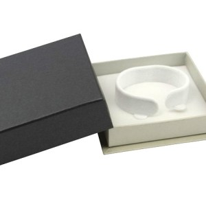 White Lava Stone Bracelet With Rainbow Eye Swarovski® Elements