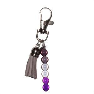 Asexual Bag Charm