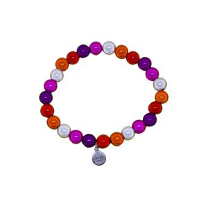 community lesbian holographic pride bracelet