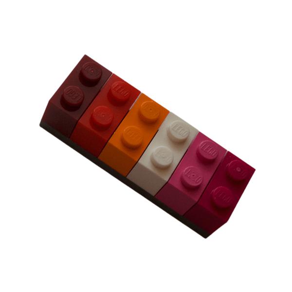 lesbian lego brick fridge magnet