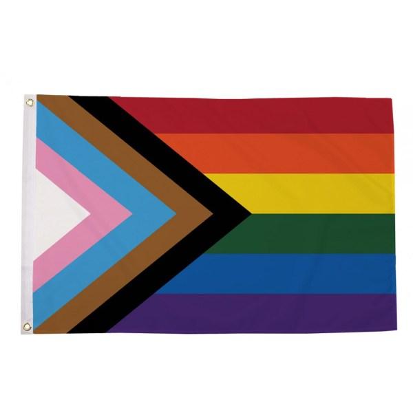 buy Rainbow progress lgbt pride 5' flag online