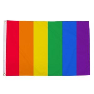 buy vertical rainbow lgbt pride 5' flag online