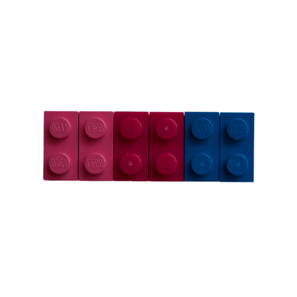 bisexual lego fridge magnet