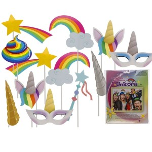 Unicorn rainbow party photo accessories
