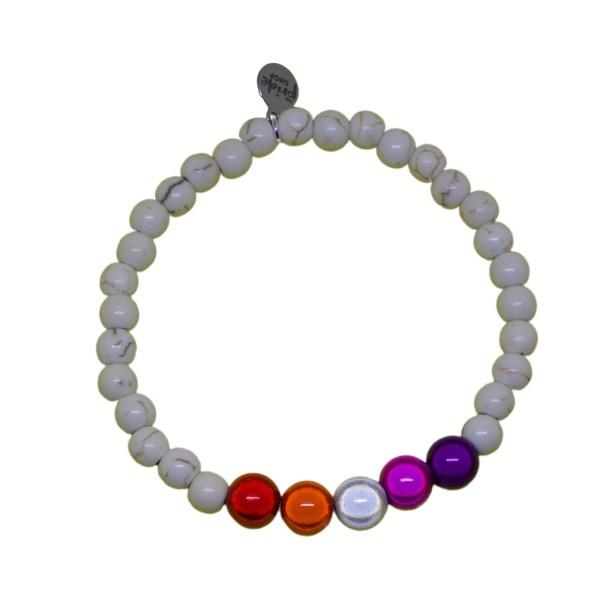 community lesbian white stone bracelet