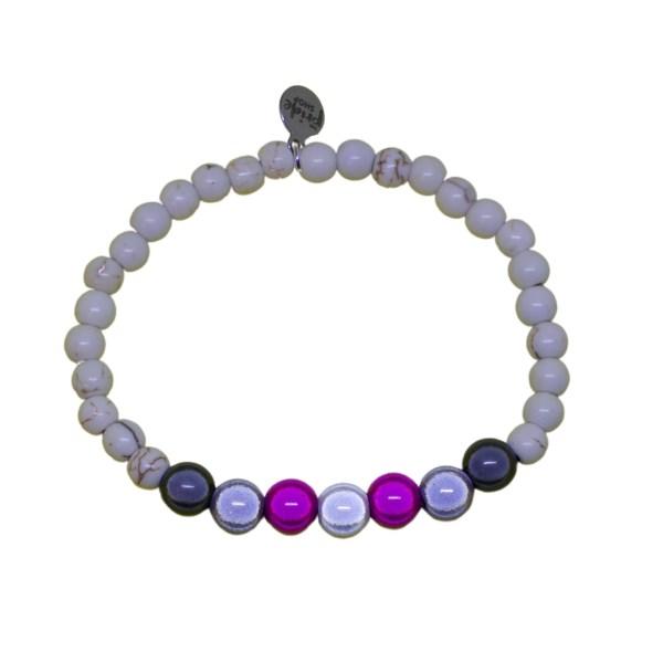 white stone bracelet with demigirl holographic set