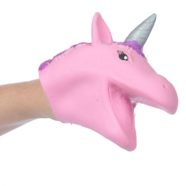 Unicorn hand puppet pink