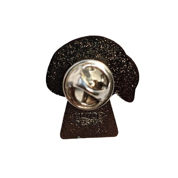 Lesbian Mushroom Pin Badge Back