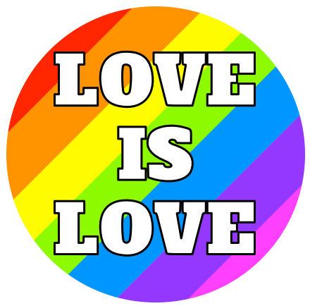 Love Is Love pin badge