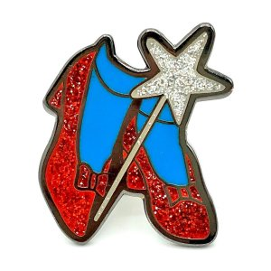 wizard of oz ruby slippers pin badge