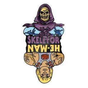 he man and skeleton pin badge