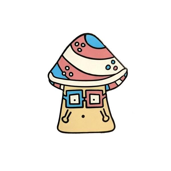 Transgender Mushroom Pin Badge