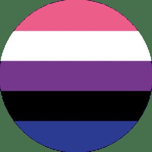 Genderfluid Flag Pin Badge for sale